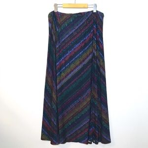 XXL Vintage Patterned Stretchy Boho Maxi Skirt
